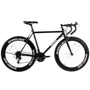 이구아나코리아 21단 스피드에이스 로드 스틸 자전거 조립 53cm, 블랙
